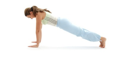 Yoga pushup pose